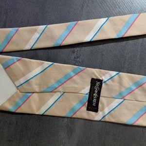 YSL Creme/Beige Tie